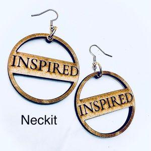 Inspired Engraved Earrings